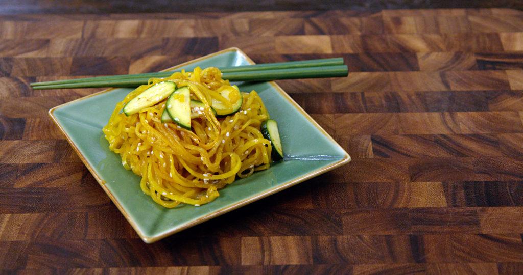 Espaguete de Vegetais com Toque Asiático