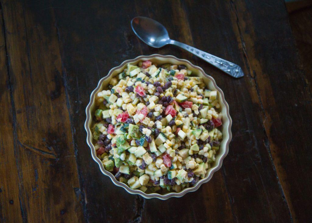 Salada Tex-Mex de Vegetais em Pedaços