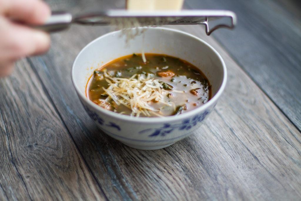 Sopa de Chouriço e Espinafre