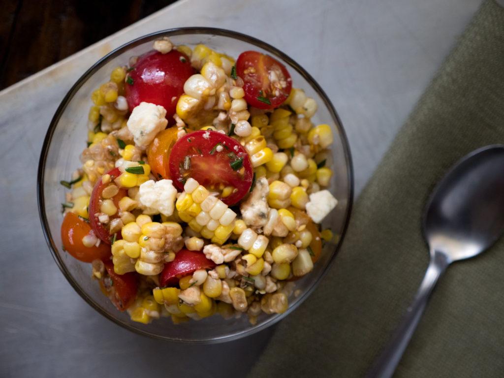 Salada Italiana de Milho Grelhado
