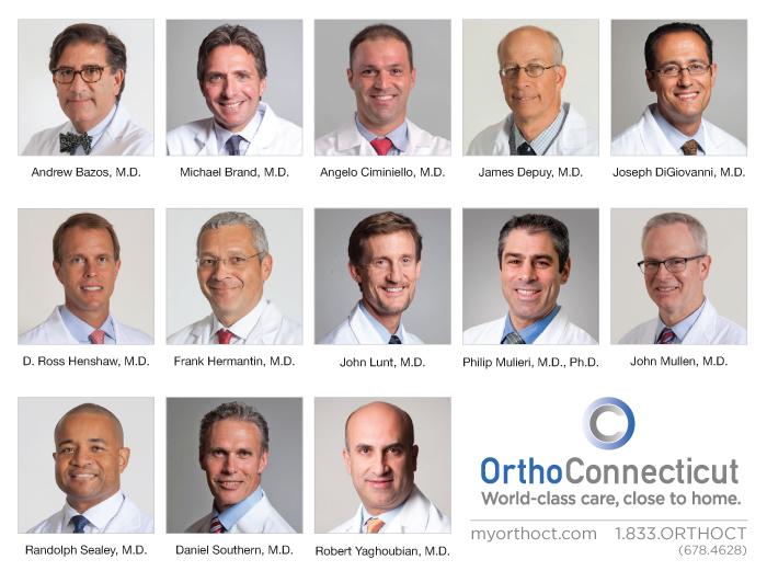 Médicos da OrthoConnecticut Homenageados por seus Colegas e Pacientes