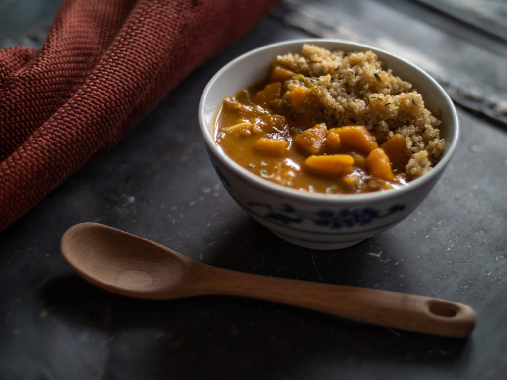 Curry de Abóbora Butternut e Coco