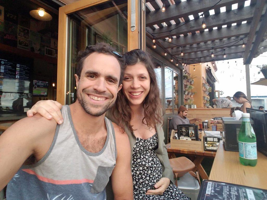 Marco e Juliana a espera da chegada do seu primeiro filho.