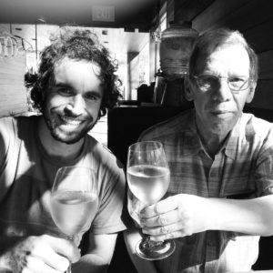 Marco e seu pai Alberto José Rodrigues Alves.